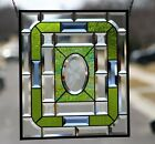 Beveled Stained Glass Window Panel Hanging 18 5 8x16 1 2