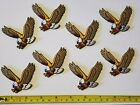 80 NOS Eagle Patches Iron On Appliques 25 Embroidered Felt
