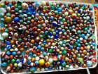 Lot 600 Vintage Glass Marbles Mixed Akro AgateOxbloodsSwirlsSuperman No Chips