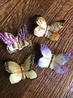 Herend Handpainted Butterflies Set Of 4 Hungary