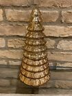 Pottery Barn Mercury Glass Tree Candle Pot Antiqued Gold Christmas Decor New