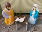LIFESIZE JesusJoseph  Mary Nativity Blow Mold Light Up Yard Decor 2 21