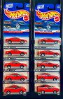 Hot Wheels 1999  910 First Editions Monte Carlo Concept Car Red Lot of 10