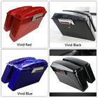 Hard Saddle bags Trunk w Lid Latch Key For Harley Touring Road King Glide 93 13