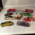 Hot Wheels Treasure Hunt Ford Mustang Chevy Camaro Fire Truck Loose Lot Of 10