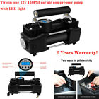 Heavy Duty 12V DC Double Cylinder Air Pump Compressor Car Auto Tire Inflator US