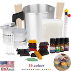 DIY Candle Making Kit Soy Wax Flakes Wicks Pitcher Fragrance Oil 16 Color Dyes