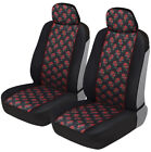 Black Cheetah Print Car Seat Covers Front Seats Universal Fit Auto Truck Van Suv