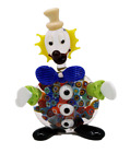 Murano Glass Millefiori Clown Figurine 100 Glass Hand Made in Italy