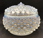 Fenton Glass OPALESCENT FRENCH HOBNAIL COVERED POWDER JAR 988X
