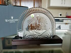 Waterford Crystal Nativity Bethlehem Creche Backdrop and wooden Plinth Stand NEW