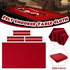 Table Cloth Worsted Billiard Pool Snooker Felt Cover 6Pcs Strip 95x47ft Red