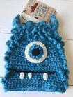 NEW ANDES GIFTS FAIR TRADE  BEANIE HAT ONE SIZE ALPACA BLEND Blue Monster Kids