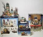 Lemax Carole Towne Village Lot Isle Lighthouse Toy Kingdom Facade City Newsstand