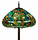 Tiffany Style Stained Glass Floor Lamp Azure Sea w 20 Shade FREE SHIP USA