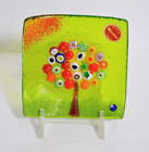 Murano Glass Tree of Life Plate Large Green 5