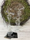 Glass Dimensions Callalily Oil Candles NIB Set Of 3 Hand Blown Glass 225 y