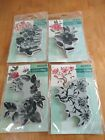 New Penny Black RUBBER STAMP Cling FLOWERS Lot