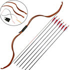 Hunting Mongolian Horsebow Takedown Archery Traditional Recurve Bow  Arrows Set