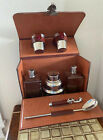 1940s Rumpp Travel Bar Set Bartender Kit Shot Glasses Decanters Shaker MCM NICE