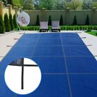 18X36FT Rectangle Swimming Pool Cover Center Step Rectangular Safety Blue Winter
