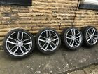 """4 Genuine 18"""" Audi A3 S3 Alloy Wheels 5 Twin 8V Models & 2 continental tyres"""