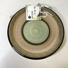 ARDACAM Salad Plates Turkish Glass Green Pink Gold Handmade Art Tabletop Set 4