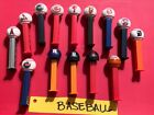 Lot of 13 Baseball Pez Dispensers + Bonus OSU Basketball Pez