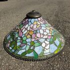 Tiffany Studios Reproduction Slag Stained Glass Hanging Lamp Shade Chandelier