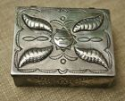 Large Vintage Native American Navajo Sterling Silver Box