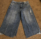 Nwt American eagle wide leg Hi Rise stretch cropped jeans size 16 short