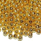MBX569 Gold 6mm Round Filigree Plated Brass Metal Beads 100 grams