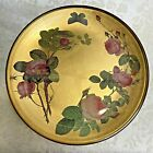 GORGEOUS Antique Roses Butterfly Gold Leaf Decoupage Cabinet Plate
