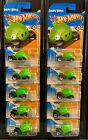 Hot Wheels 2012  035 Angry Birds Minion Pig Green Lot of 10
