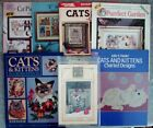Lot of 7 Cat Themed Cross Stitch Patterns and Books Needle Crafts