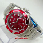 40mm BLIGER red dial 24 jewels NH35A miyota Automatic mens Watch sapphire glass