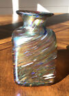 Vintage Robert held Art glass Vase Made in Canada 4 1 2 Tall 2 3 4 Wide