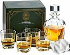 Whiskey Glass Set of 4 with Crystal Glass Decanter