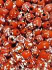 3 4mm Red  White Polka Dot Round Loose Glass Beads DIY Jewelry Making Bead