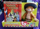 Shrek the Third Shrek-Xclusive DVD Gift Pack with Puss in Boots Ty Beanie Baby