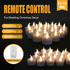 24 48X Flameless LED Candles Tea Light Remote Control Battery Operated WarmWhite