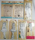 Prima Marketing Julie Nutting Mixed Media Doll and Planner Stamps You Choose