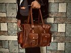 Hand Crafted Womens Shoulder Bag Vintage Leather Satchel Hand Purse Tote Retro