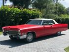1968 Cadillac DeVille 2dr Coupe Candy Cane Red and White Classic Convertible