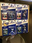 1988 /89 MLB Starting Lineup Figure Lot Of 4 Schmidt Santiago Etc