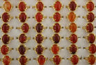 Mixed Lots 45pcs Red Agate Jewelry Gold P Copper Ladys Rings Wholesale Ring