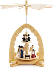 BRUBAKER 2 Tier Wooden Christmas Pyramid 12 Inches 30 cm Nativity Scene with