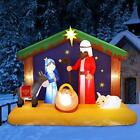 YUNLIGHTS 65FT Christmas Inflatable Nativity Scene Blow Up LED Light Christm