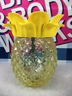 Bath And Body Works Yellow Glass Pineapple Luminary Single wick Candle Holder
