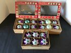 18 VTG WEST GERMANY MERCURY GLASS STAR FLOCKED SEQUINS MICA XMAS TREE ORNAMENTS